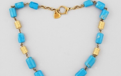 *TURQUOISE AND GOLD NECKLACE