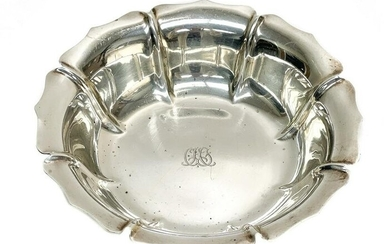 Tiffany & Co. Sterling Silver Floral Formed Bowl #771.