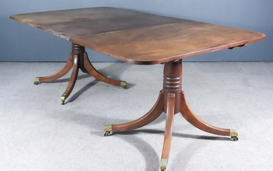 """A 19th/20th Century Mahogany Two-Pedestal Dining Table of """"George..."""