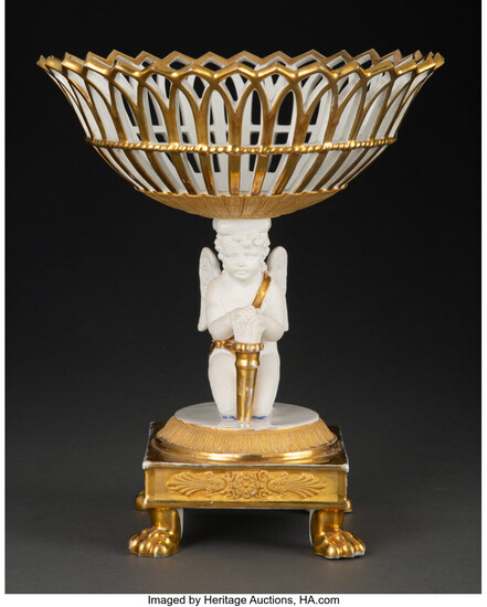 A French Empire Porcelain Compote