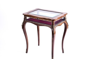 A French late 19th century inlaid rosewood bijouterie table ...
