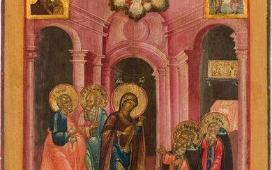 A LARGE ICON SHOWING THE APPEARANCE OF THE MOTHER OF...
