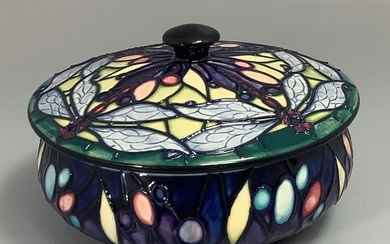 A Moorcroft pottery bowl and cover decorated in the 'Favrile...