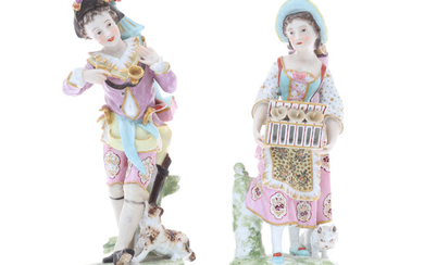 A PAIR OF SAMPSON PORCELAIN FIGURES, LATE 19TH CENTURY.