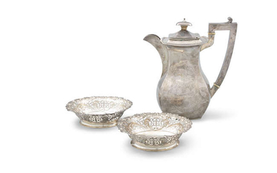 A PAIR OF VICTORIAN SILVER SWEETMEAT BASKETS, London...