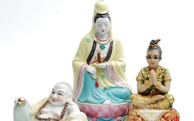 A collection of 20th Century Chinese and Indian figures, to ...