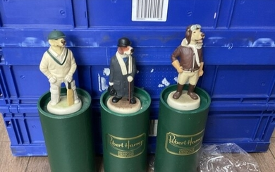 A collection of 30 boxed Robert Harrop dog character figures...