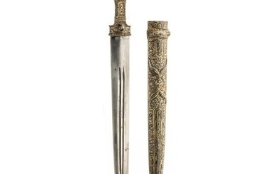 A silver-mounted Caucasian kindjal, 19th century