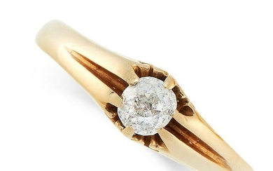 AN ANTIQUE DIAMOND GYPSY RING, 1906 in 18ct yellow