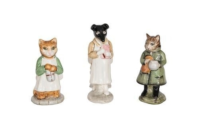 Beswick Beatrix Potter Figures Comprising: Ginger; Pickles; and Simpkin, all...