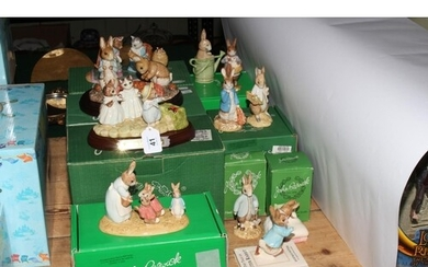 Beswick Beatrix Potter pieces, four groups including Mrs Rab...