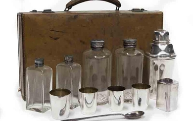 Brooks Brothers cocktail kit with leather travel