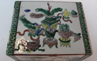 Chinese Famille Rose Porcelain Pillow