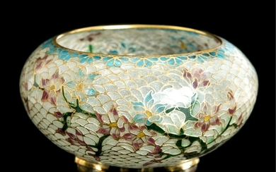 Chinese Footed Plique a Jour Bowl
