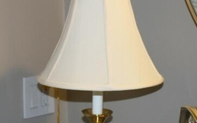 Contemporary Brass and Glass Lamp