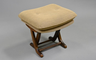 Deco Style Upholstered Stool