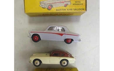 Dinky. Collection with Austin A105 No 176 grey with red line...