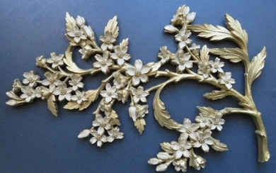 Dogwood with Flowers Wall Sculpture 1966, Mid Century