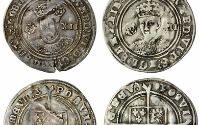 Edward VI (1547-1553), Third Coinage, Fine Silver, Shillings, 1551-1553, Tower (2)
