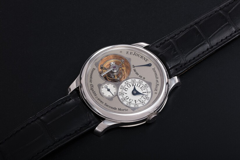 F. P. JOURNE, A PLATINUM TOURBILLON SOUVERAIN WITH CONSTANT FORCE DEVICE AND DEAD BEAT SECONDS