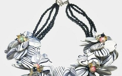 Floral Bead Necklace By Nakamol