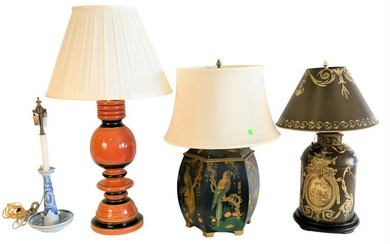 Four Piece Lot of Table Lamps, to include a Chinese