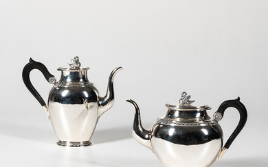 French Empire-style Sterling Silver Coffeepot and Teapot