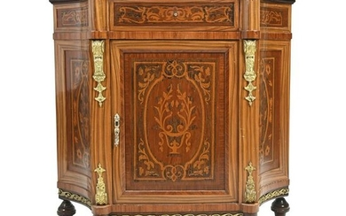 Italian Pen Inlaid Faux Marquetry Cabinet.