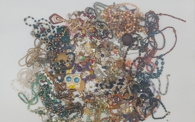 Large Vintage Lot Of Assorted Costume Jewelry