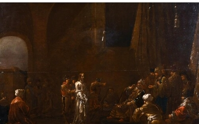 Late 17th Century Dutch School. 'Christ before Caiaphas', Oi...