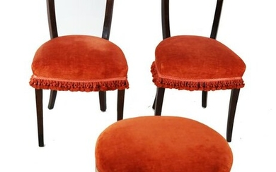 Pair of Biedermeier-Style Chairs & A Bench