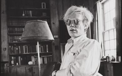 Peter Beard, Andy Warhol at home in Montauk in 1972 during the Stone's Tour - Exiles on Mainstreet