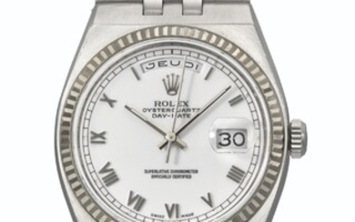 ROLEX. AN EXTREMELY RARE AND IMPORTANT STAINLESS STEEL PERPETUAL CALENDAR WRISTWATCH WITH BRACELET