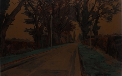 Study for the Painter on the Road V, George Shaw