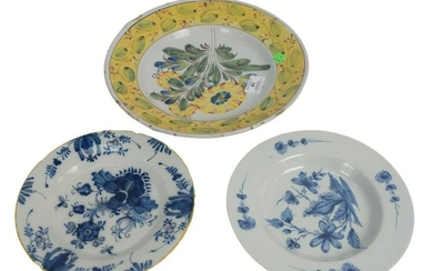Three Delft Pieces to include a deep charger with 4