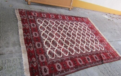 Turkish Pure Wool Rug Repeated Border Motifs Approximately27...