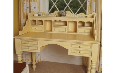 VICTORIAN STYLE PAINTED DRESSING TABLE