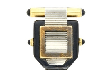 Verger Frères Louvre Shutter Watch with Purse Attachment