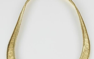 Vintage Cartier 18kt Yellow Gold Curved Link Necklace