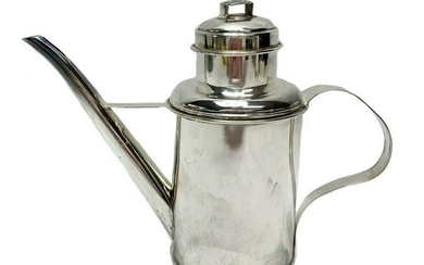 Vintage Italian Sterling Silver Oil Can