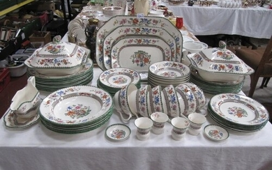 "65 Piece Copeland Spode ""Chinese Rose"" Dinner Service with E..."