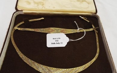 A 9ct gold necklace and bracelet 32.94g