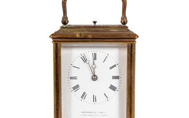 A French carriage clock: the eight-day duration movement hav...