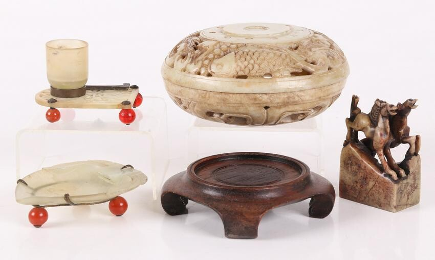 A Group of Chinese Objects Including Jade