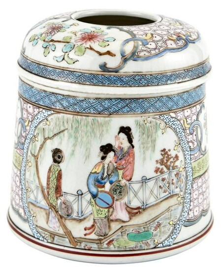 A Rare and Finely-Enameled Chinese Export Porcelain