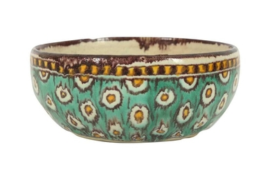 A SMALL POLYCHROME-PAINTED CHEMLA POTTERY BOWL Tunis, Tunisia, North Africa, ca. 1920 - 1930