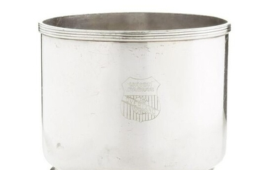 A U.P.R.R SILVER PLATE ICE BUCKET W/OVERLAND ROUTE LOGO