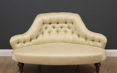 A Victorian shaped low conversation seat