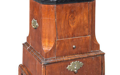 A late 18th / early 19th century Anglo-Dutch walnut tea stove or jardiniere