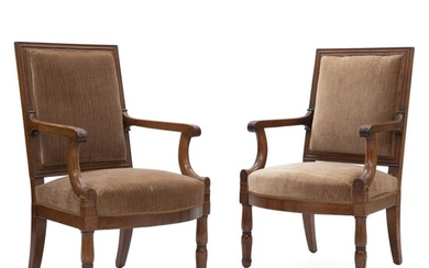 A pair of Empire mahogany armchairs. France, early 19th century. (2). – Bruun Rasmussen Auctioneers of Fine Art